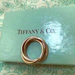 Tiffany & Co Triple Interlocking 925 Silver Bands